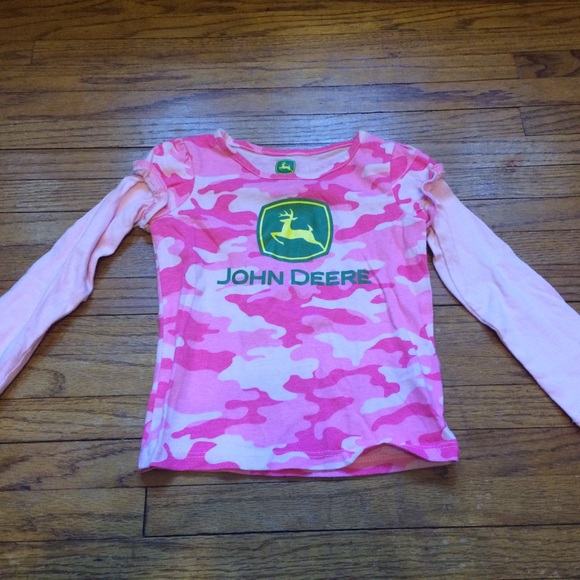 1b032ade John Deere Shirts & Tops | Girls Long Sleeve Size 2t Pink Camo Euc ...